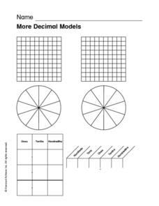 More Decimal Models Worksheet