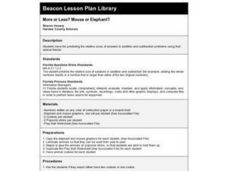 More or Less? Mouse or Elephant? Lesson Plan