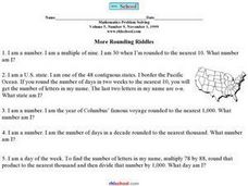 More Rounding Riddles Worksheet