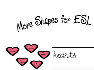 More Shapes For ESL Worksheet