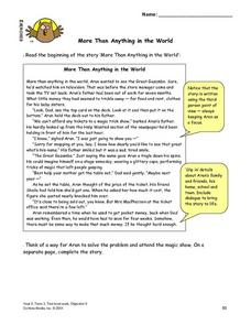 More Than Anything in the World Lesson Plan
