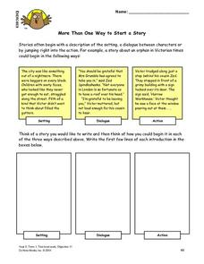 More Than One Way To Start a Story Lesson Plan