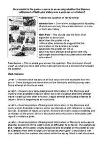 Mormon Settlements Worksheet