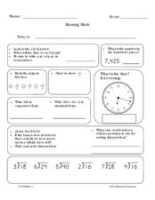 Morning Math Worksheet