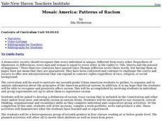 Mosaic America: Patterns of Racism Lesson Plan