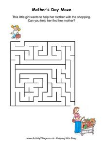 Mother's Day Maze Worksheet