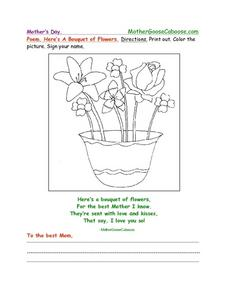Mother's Day Poem Worksheet