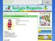 Mother's Day Rhymes and Song Lesson Plan