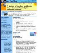 Motion of the Sun and Earth:  Using a Classroom Model to Explore Rotation and Revolution Lesson Plan
