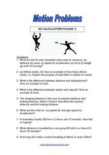 motion problems 8th 12th grade worksheet lesson planet. Black Bedroom Furniture Sets. Home Design Ideas