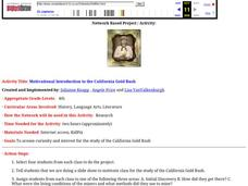 Motivational Introduction to the California Gold Rush Lesson Plan