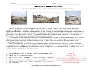 mount rushmore 2nd 3rd grade worksheet lesson planet. Black Bedroom Furniture Sets. Home Design Ideas