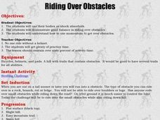 Mountain Biking - Riding Over Obstacles Lesson Plan