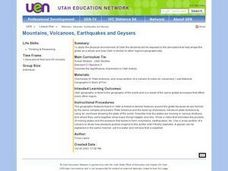 Mountains, Volcanoes, Earthquakes and Geysers Lesson Plan