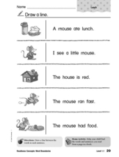 Mouse Sentences Worksheet