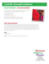 Move Your Body- Just Like Clifford! Lesson Plan
