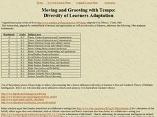 Moving and Grooving with Tempo: Diversity of Learners Adaptation Lesson Plan