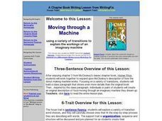 Moving through a Machine Lesson Plan