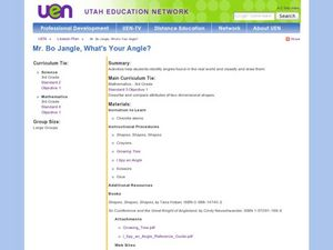 Mr. Bo Jangle, What's Your Angle? Lesson Plan