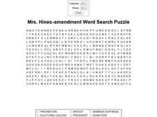 Mrs. Hines- Amendment Word Search Worksheet