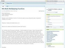 MS Math Multiplying Fractions Lesson Plan