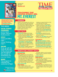Mt. Everest Lesson Plan