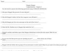 Muggie Maggie Comprehension Chapter 5 Worksheet