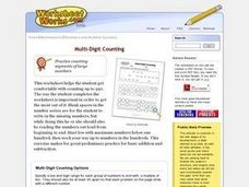 Multi-Digit Counting Worksheet