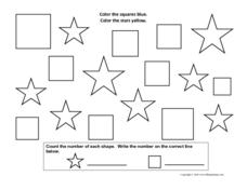 Multi-Shape Coloring Worksheet
