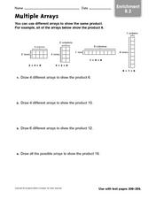 Multiple Arrays Worksheet