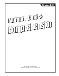 Multiple Choice Comprehension: Green Grasshoppers Worksheet