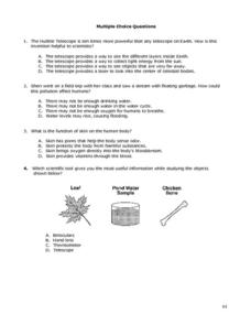 Multiple Choice Questions-Basic Science Worksheet