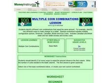 Multiple Coin Combinations Lesson Lesson Plan