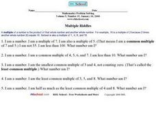Multiple Riddles Worksheet