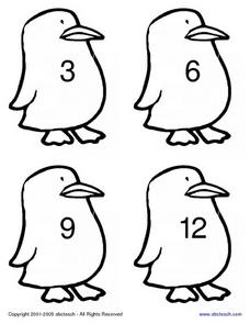 Multiples of Three Chickens Worksheet
