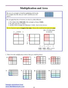 Multiplication and Area Worksheet