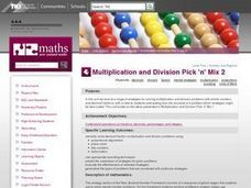 Multiplication and Division Pick 'n' Mix 2 Lesson Plan