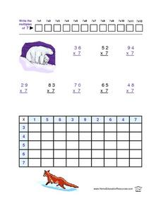 Multiplication by 7 Lesson Plan
