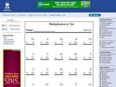 Multiplication By Ten Worksheet