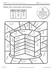 Multiplication Coloring Worksheet