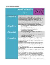 Multiplication Facts Lesson Plan