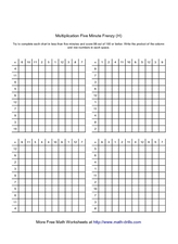 math worksheet : 5 minute math multiplication worksheet  multiplication five  : Rocket Math Multiplication Worksheets