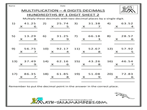 math worksheet : decimals worksheets bbc  the best and most comprehensive worksheets : Multiply Decimals By Whole Numbers Worksheet