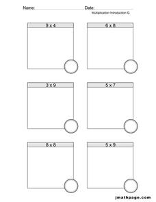 Multiplication Introduction G Worksheet