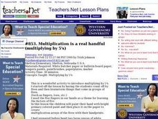 Multiplication is a real handful (multiplying by 5's) (Elementary, Mathematics) Lesson Plan