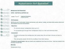 Multiplication Nerf Basketball Lesson Plan