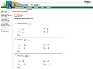 Multiplication Of  Fractions Worksheet