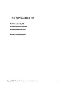 Multiplication times 20 Worksheet