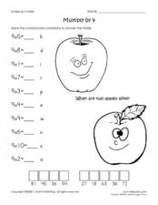 Multiply by 9 Worksheet