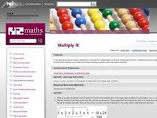 Multiply It! Lesson Plan